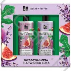 AA Super Fruits&Herbs Zestaw kosmetyków: żel do mycia + balsam do ciała