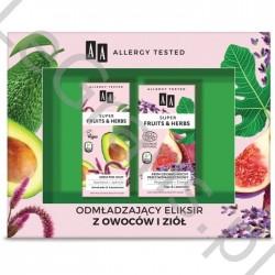 AA Super Fruits&Herbs Zestaw kosmetyków: krem dzienno-nocny + krem pod oczy