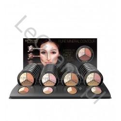 Zestaw do kontur. twarzy bronzera, różu do policzków rozświetlacza PURE MINERAL CONTOUR Revers Cosmetics opak.24 szt