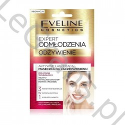 EVELINE Ekspert Odmłodzenia Odżywianie 3w1 2x5ml - actively soothing redness mask for face neck decollete