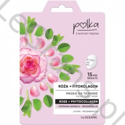 POLKA Rose + Phyto Collagen Fabric Mask Improves Tension + Regeneration 23 ml By Oceanic