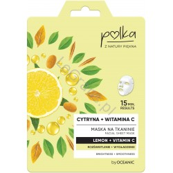 POLKA Mask on fabric Lemon + vitamin c Brightening + Smoothing 23 ml