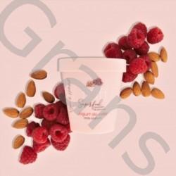 FLUFF Raspberry Yoghurt with Almonds, 180ml