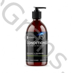 HISKIN Conditioner (glass) for hair with Silver Ions Bergamot and Rhubarb, 250ml