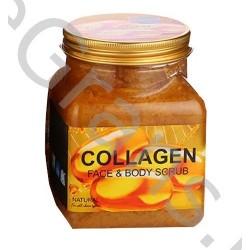 Wokali Premium COLLAGEN  Face and body scrub,  350 ml