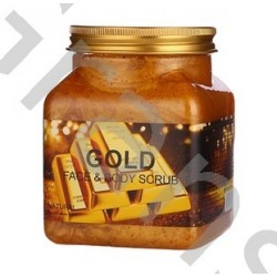 Wokali Premium GOLD  Face and body scrub,  350 ml